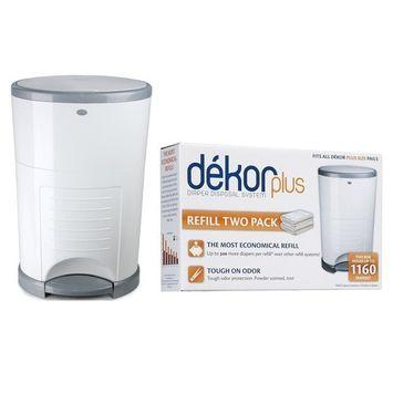 Diaper Dekor Plus Diaper Disposal System with Refill Bags