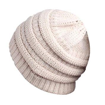 Lanhui Lovely Women Ladies Knitting Cancer Hat Beanie Turban Head Wrap Cap Pile Cap