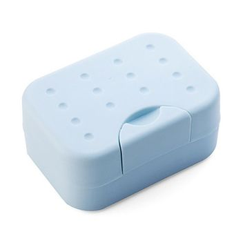 Faber3 Soap Dish with Drain Soap Saver, Easy Cleaning, Dry, Stop Mushy Soap Brand New Travel Soap Dish Box Case Holder (Blue)
