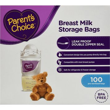 Parent's Choice Breast Milk Storage Bags, 100 ct [number_of_pieces: number_of_pieces-100]