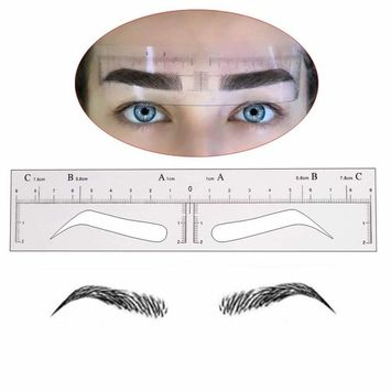 CHOOSE-IT 20Pcs Disposable Eyebrow Ruler Sticker Eyebrow Shaping Stencils Microblading Supplies Adhesive Eyebrow Microblading Template Tool Permanent Makeup Measure Tool