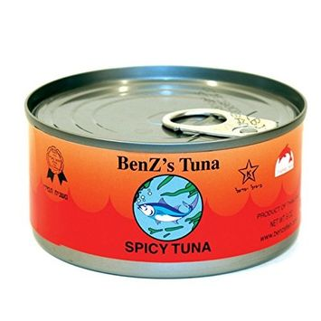 Benz's Spicy Tuna, 6 oz Easy Open Pull-Top Lids, Kosher (Spicy Tuna, 48 Pack)