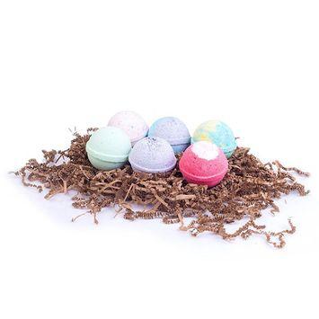 All-Natural Lush Organic Bath Bomb Spa Gift Set (6-pack) - EcoHome Naturals