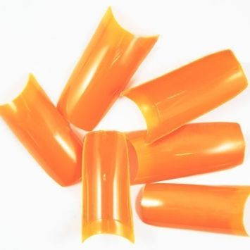 Opaque Orange French False Nail Tips (Grade A) x 500pcs CODE: C07Nails