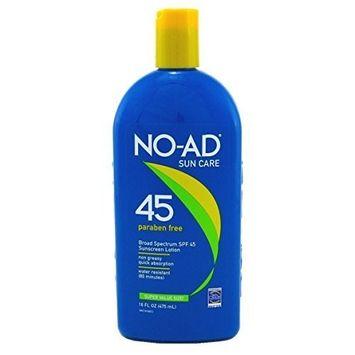 NO-AD Sunscreen Lotion SPF 45 -- 16 fl oz by No-Ad
