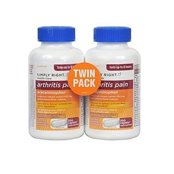 Simply Right Joint Pain Capsules - 200 ct, 650 mg (2 Pack)