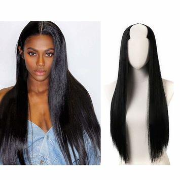 Clip in Hair Extension Full Head Straight Long 24