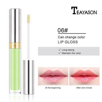 Lip Gloss Color Changing Flower Shiny Beauty Lipstick Moisturizing Long Lasting (F)