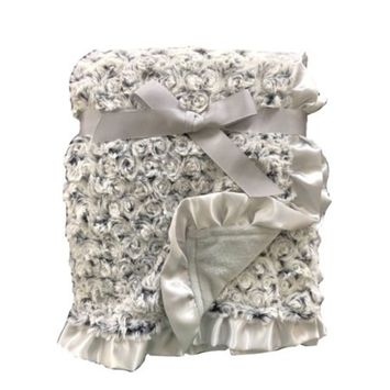 Parent's Choice Rosette Baby Blanket, Gray