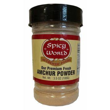 Spicy World Premium Amchur Powder 3.5 Ounce Jar - Dry Mango Ground