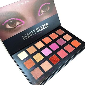 Pettstore 18 Colors Mixed Pearlescent Eyeshadow Glazed Eye Shadow Powder Makeup Textured Palettes (#1)