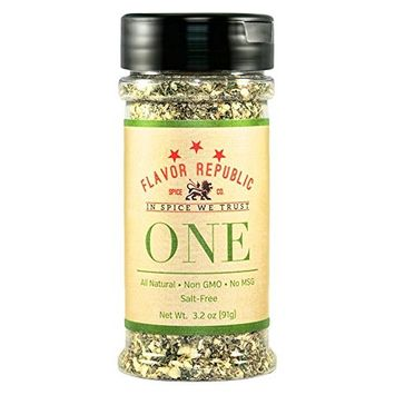 All Purpose Seasoning, ONE Blend. Black Pepper and Onion Spice for Vegetables, Pork, Chicken and Steak - Flavor Republic (3.2 oz)