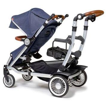 Austlen™ Entourage® Sit+Stand Double Stroller in Navy