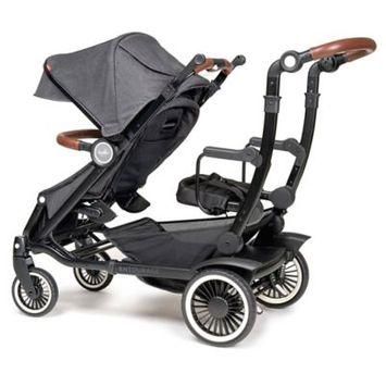Austlen™ Entourage® Sit+Stand Double Stroller in Black