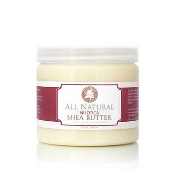 Organic Natural East African Nilotica Shea Butter - Nature's Shea Butter - 16 ounces