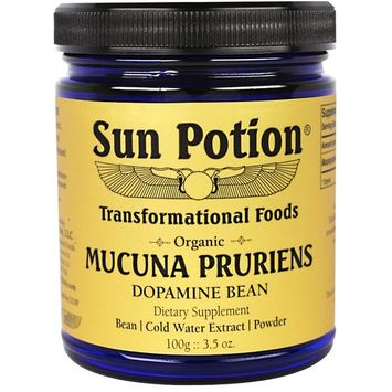 Sun Potion, Mucuna Pruriens Powder, Organic, 3.5 oz (100 g)