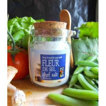 Fleur De Sel, French Sea Salt Presented in a Recycled Glass Jar with Natural Cork Top