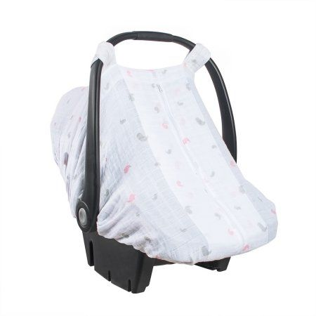 Bebe au Lait - Muslin Car Seat Cover (Chickadee) Accessories Travel