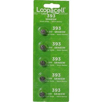 LOOPACELL SR754W 393 Silver Oxide Watch Battery 5 Pack