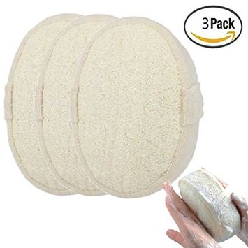 Exfoliating Loofah Sponge Pads - 10x14.5x5cm - Alonea Natural Loofah Material Loofah Sponge for Men and Women, Perfect for Bath Shower and Spa (3 Pack❤️)