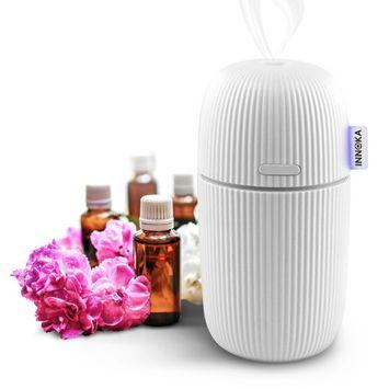 INNOKA Ultrasonic Aroma Fragrance Essential Oil Diffuser, 110ml Portable USB Cool Mist Humidifier, White