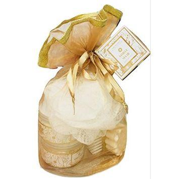 Mother's Day Beauty Bath Shower Gift Set - Vanilla Sugar Shower Gel | Body Lotion | Body Scrub | Bath Salts | Bath Soap