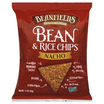 Beanfields Nacho Bean and Rice Chips 1.5 oz 24 pack