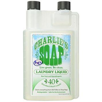Charlie's Soap - Fragrance Free Laundry Liquid - 40 Loads (Two 40-Load Bottles, 80 Total Loads)