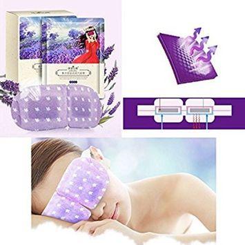 Hot Sale!Steam Eye Mask,Nmch Eye SPA Hot Warm Eye Patch Steam Eye Pillow for Tranquil Relaxation, Lavender Fragrance, 10pcs (10 pcs, PURPLE)