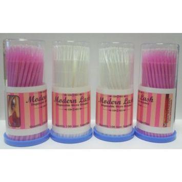 Modern Lash EyeLash Extensions Disposable Micro Brushes 100 pack