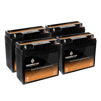 12V 19.5AH SLA Battery replaces np18-12 51814 6fm17 6-dzm-20 6-fm-18 - 4PK - S00191-4PK-00002