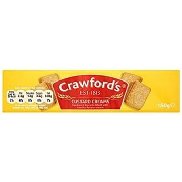 Crawfords Custard Cream 150g 6 Pack