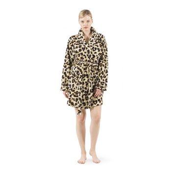 Super Plush Leopard Bath Robe