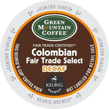 Green Mountain Coffee Colombian Fair Trade Select Decaf, Keurig K-Cups (Columbian Fair Trade Select Decaf, 36 Count)