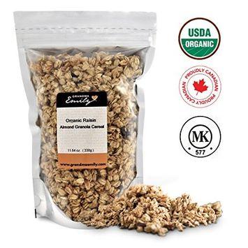 Grandma Emily Organic Raisin Almond Granola 11.64 oz (4 Pack)