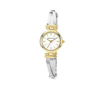 Anne Klein Two-Tone X Shape Bangle Watch