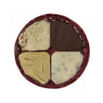 Four Flavor Gift Wheel of Fudge - 1 1/2 Lb [1 1/2 Pound]