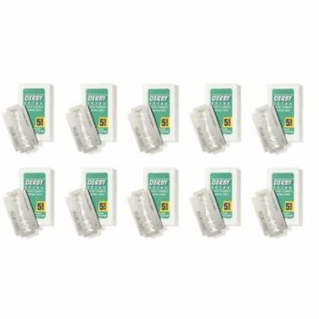 Derby Extra Double Edge Blades, 5 ct. (Pack of 10) + Facial Hair Remover Spring