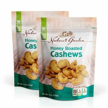 Nature's Garden, Honey Roasted Cashews, 8 Oz