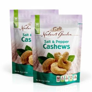 NATURE'S GARDEN CASHEWS SALTED PEPPER