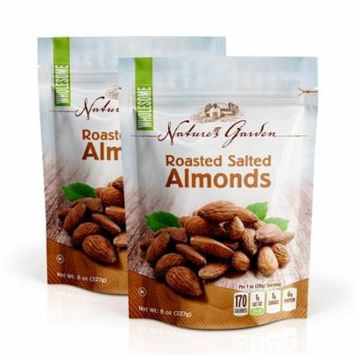 Nature's Garden, Roasted Almonds, Salted, 8 Oz