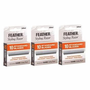 Styling Razor Blades 30 count, 3 Pack By Feather