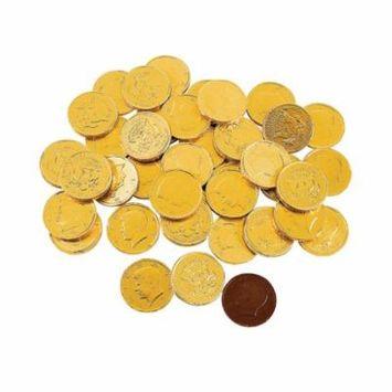 Fun Express - Gold Chocolate Coins (1lb Bag) - Edibles - Chocolate - Non Branded Chocolate - 60 Pieces