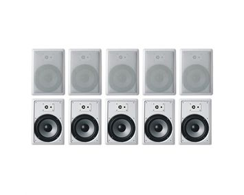 Acoustic Audio CS-IW630 3000 W RMS Indoor Speaker - 3-way - White - 45 Hz to 20 kHz - 8 Ohm - 93 dB Sensitivity - In-ceiling, In-wall