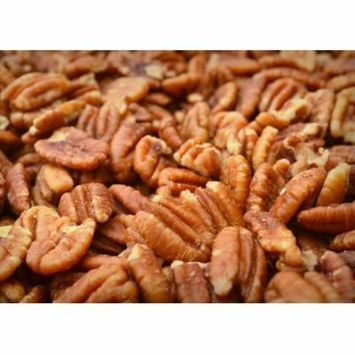 Sprouted Texas Native Pecan Halves, Family Recipe Crispy, Soaked and Dried with Sea Salt, 12 Oz. With Stand-up Resealable Bag