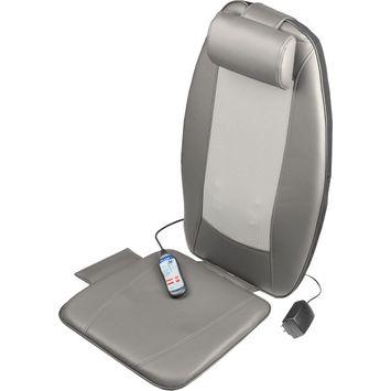 Wagan Heated Shiatsu Massage Cushion - Lower Back, Upper Back, Leg Vibration/Shiatsu Massager - Gray