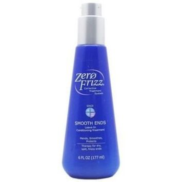 Zero Frizz Corrective Treatment System SMOOTH ENDS Leave -In Conditioning Treatment ( 6 ounce)