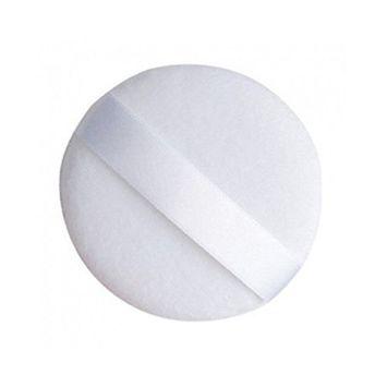 DMtse TWO (2) Round Jumbo Velour Powder Puff 4.25 Inch (108cm) in White