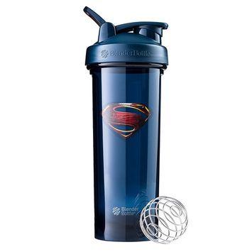 BlenderBottle Justice League Superhero Pro Series 32-Ounce Shaker Bottle, Superman