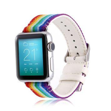 Amerteer NEW Luxury Woven Nylon Sport Watch Band Bracelet Strap For Apple Watch